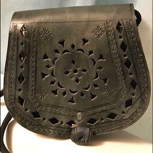 Handbags - Dark gray SMALL crossbody! Handmade in Morocco!
